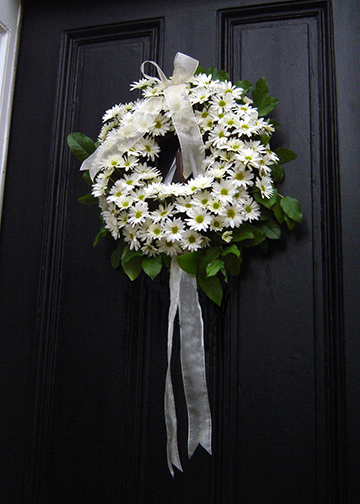 daisy wreath